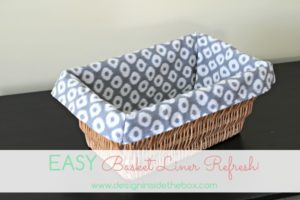 An easy way to make basket liners!