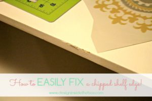 How to fix a damaged shelf edge!