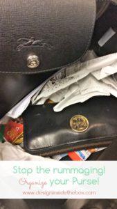 No more rummaging!  (Organize your purse!)