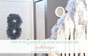 No wreath hanger?  No problem!