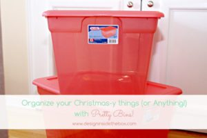 Organize your Christmas-y Things and More!