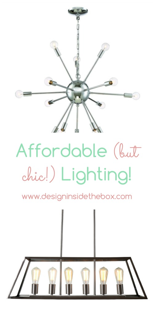 Gorgeous (and Affordable!) Lighting Options! www.designinsidethebox.com