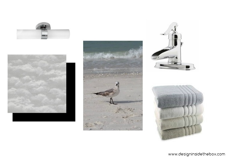ORC Spring 2017 Challenge - Powder Room Makeover! www.designinsidethebox.com
