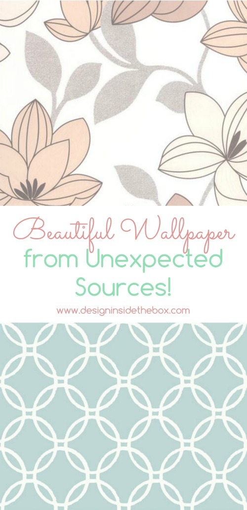 Wallpaper from Unexpected Sources! www.designinsidethebox.com