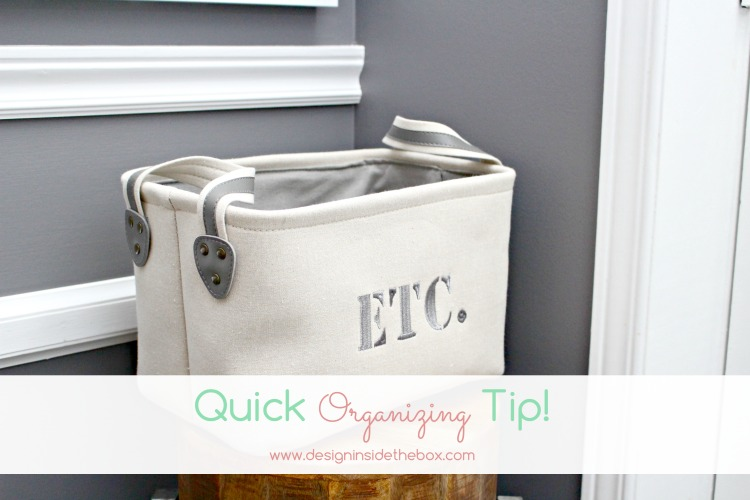 Quick Organizing Tip if you have Stairs!