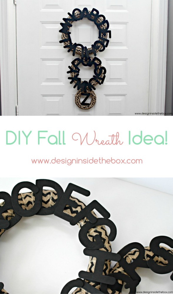 DIY Fall Wreath Idea! www.designinsidethebox.com
