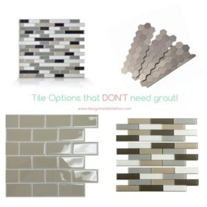 Tile Options that DON'T need Grout!