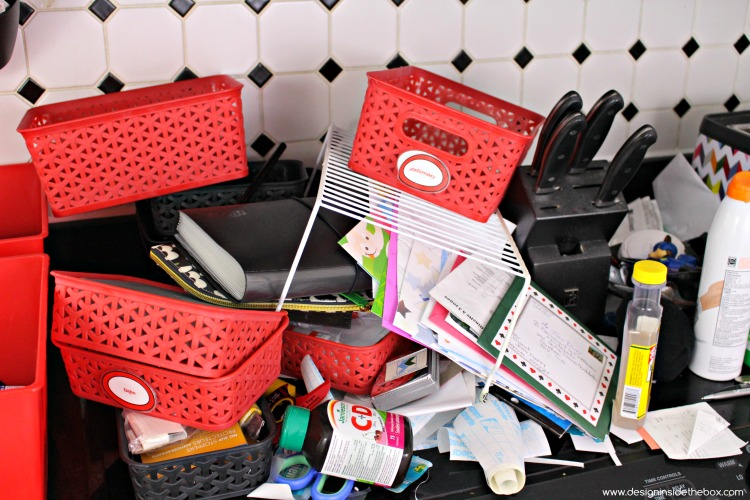 Well that Failed! How to Organize your Junk - Take Two! www.designinsidethebox.com