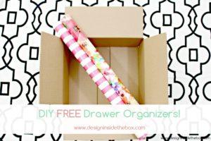 DIY FREE Drawer Organizers!