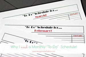 "A ""To-Do"" Schedule! (Psst…I made one for you too and it's free!)"