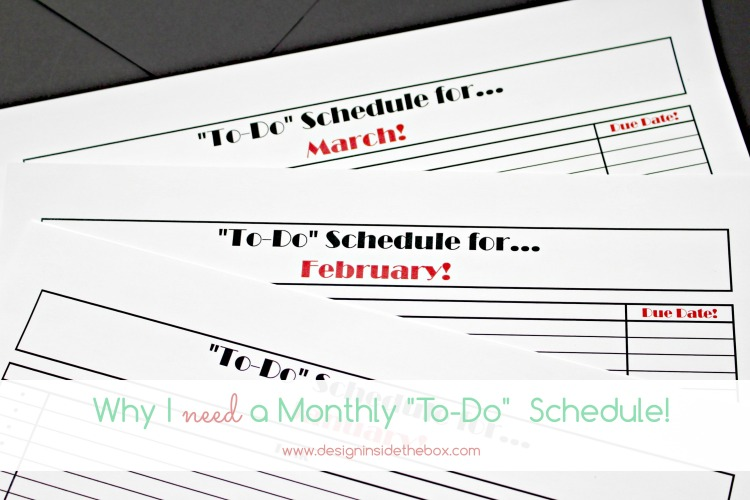 """A """"To-Do"""" Schedule! (Psst…I made one for you too and it's free!)"""