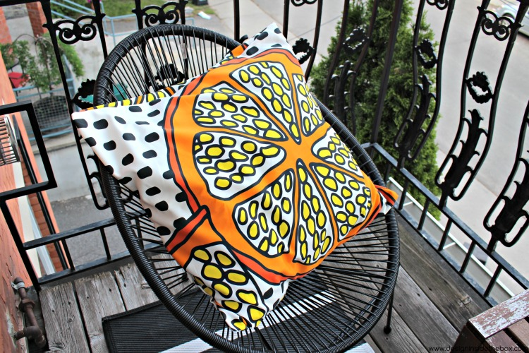 diy pillow cover by design inside the box