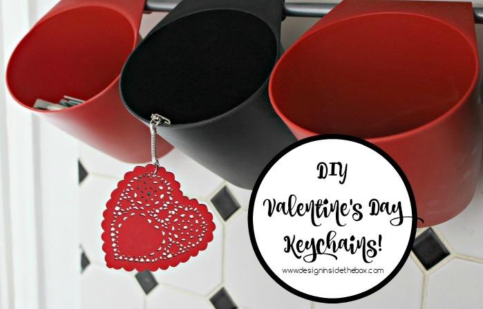 DIY Valentine's Day Keychains! www.designinsidethebox.com